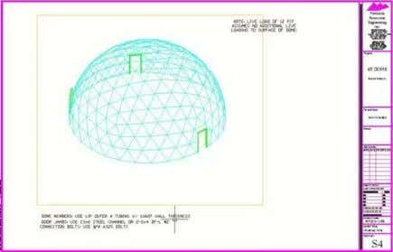 3-D analysis such as RISA, STAAD or any other software. In designing domes, round and circular