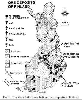 drill hole ore intersections guide drilling during a deep exploration program. (Hattula and Rekola, 2000, Geophysics)