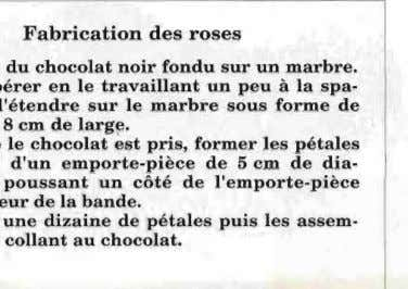 Fabrication des roses