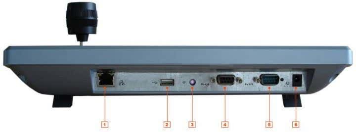 Please refer to Figure 2-2 for keyboard port information.   Figure 2-2 1 、 RJ45 network