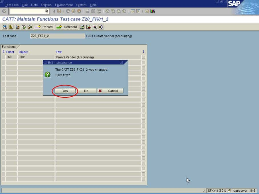 screen AND the Exit maintenance dialog box is displayed. 11. On the Exit maintenance dialog box,