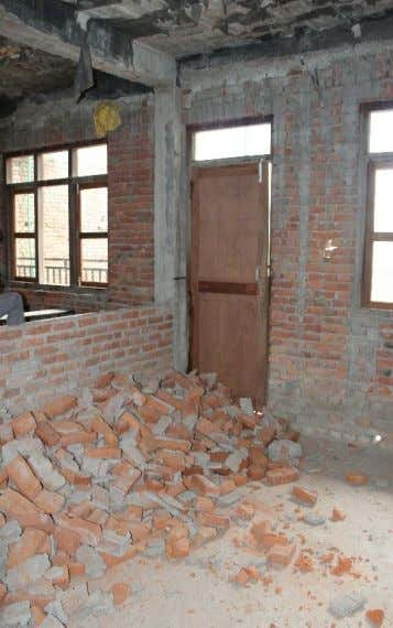or earthquakes, many schools with infill wall damage were Figure 2. School building 101 - 1,
