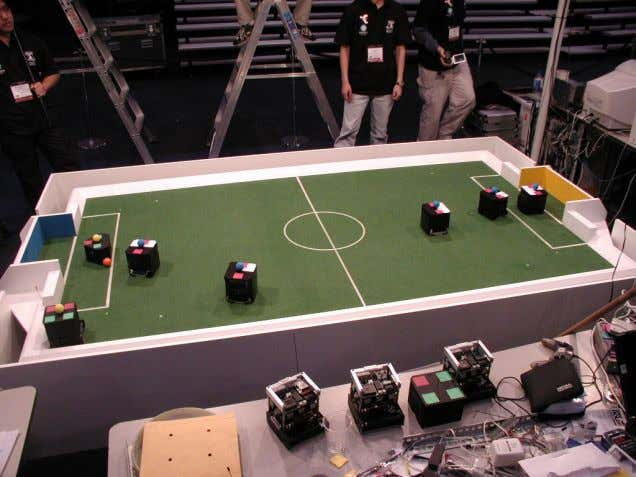 3.3. Robotics and Intelligent Machines 53 Figure 3.7. F180 league RoboCup soccer. Photograph courtesy Raffaello