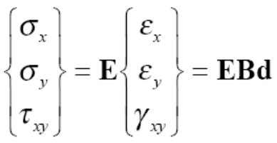 an element is determined by the followin g relation, where B is the strain ‐ nodal