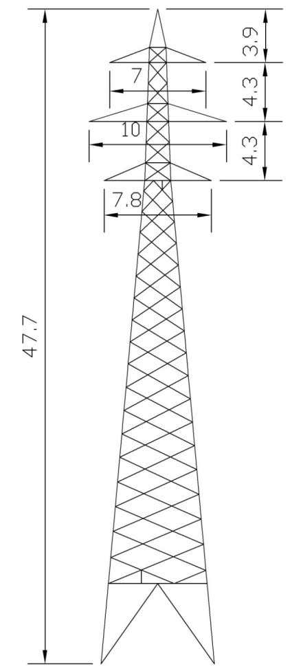 this example will be given for a 154 kV type design, 2FA. Figure 4.5 Outline of