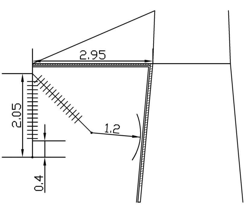 length and the phase spacing were determined for this tower. Figure 4.6 Determination of the geometry