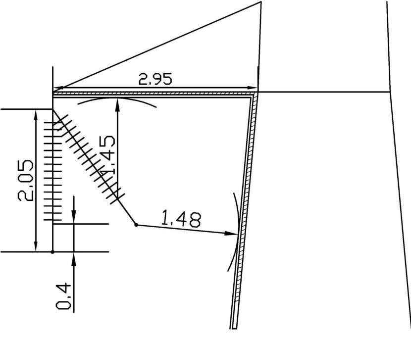 the position of the insulator set for this swing angle. Figure 4.9 Swing of the insulator