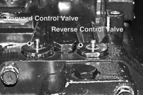 into a land between the two sets of valve passageways. Fig. 6, Control Valve Location PTO