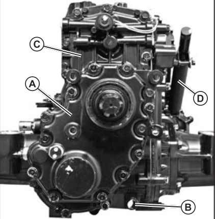 (Fig. 18) 3. Remove rear transaxle cover (C). (Fig. 18) Fig. 18,Transaxle Cover 4. Remove PTO
