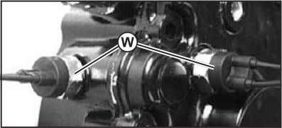 (W). DO NOT overtighten. Tighten to 34 N•m (25 lb-ft). Fig. 36, Ball Switches 15. Inspect