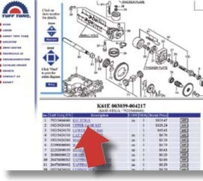 Page 4 Page 5 Page 6 Page 7 Tuff Torq K92 Hydrostatic Transaxle Having your Model,