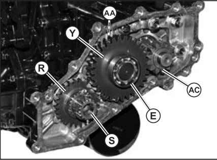 Removal 5. Remove the drive gear (AC) from motor shaft. Fig. 45, 4WD Cover Removal NOTE: