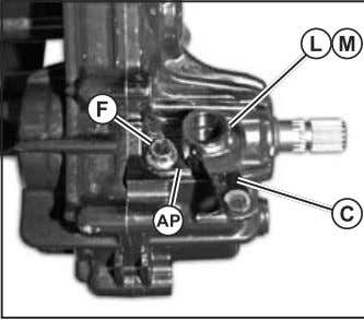 Replace O-ring (K, see fig. 52) on 4WD shift shaft Fig. 48, 4WD Cover Removal 14.