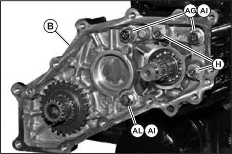 (Fig. 51) 19. Remove 4WD gear case from motor case assembly. Fig. 51, 4WD Cover Removal