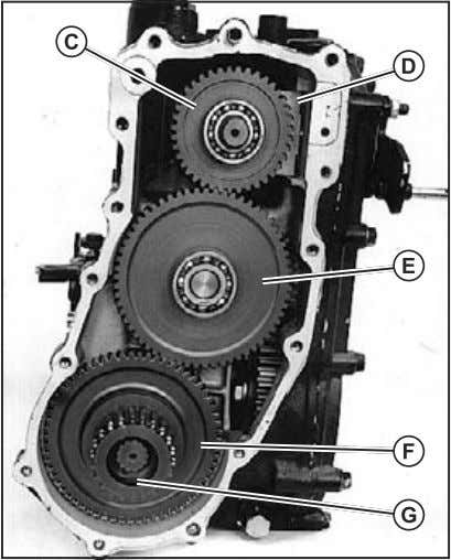 shaft assembly and large snap ring. 40 Fig. 72,Without Rear PTO Option,Assembly Fig. 73,With Rear PTO