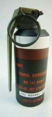 Previous Flash Bang Grenade Increments Mk-141, Increment I (not in service) •In service 1987- 2004 •Fragmenting