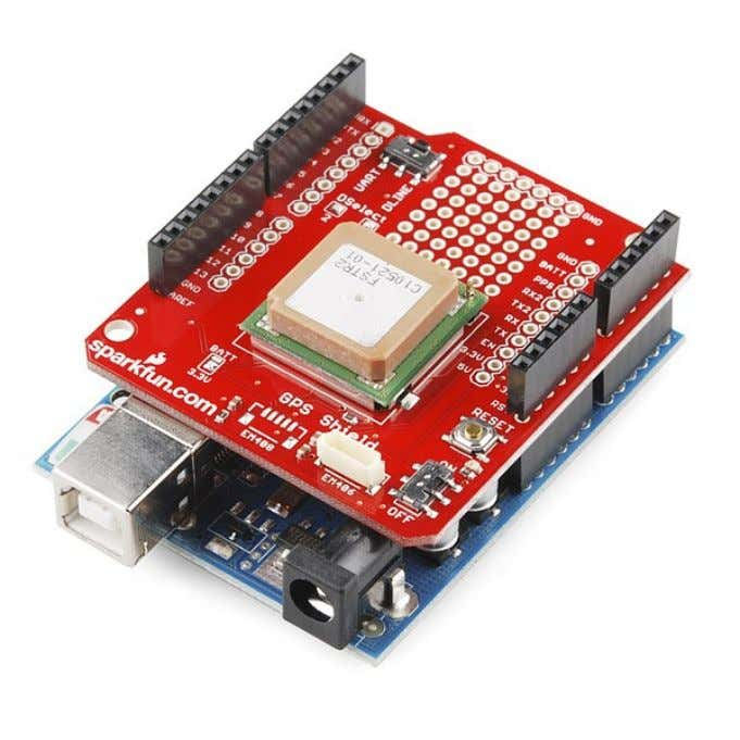 Shield : GPS https://www.sparkfun.com/products/10710