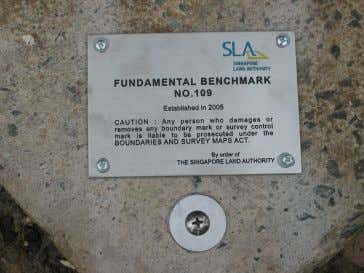 over 10 Fundamental Benchmarks in Singapore. New Fundamental Benchmark Old Benchmark Fig 2.2: Photos of Benchmarks