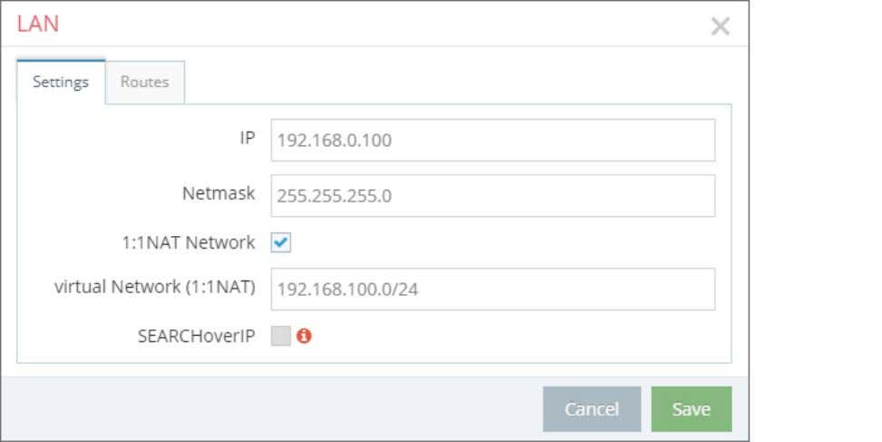- First Steps 5.4.1 LAN Settings Enter a free LAN IP address and the Netmask from