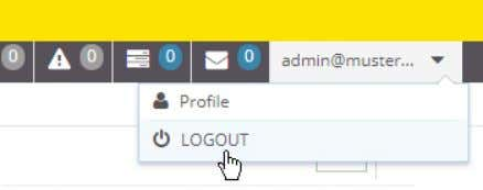 "click on the button ""LOGOUT"". If you click on the button "" EXIT "" your client"