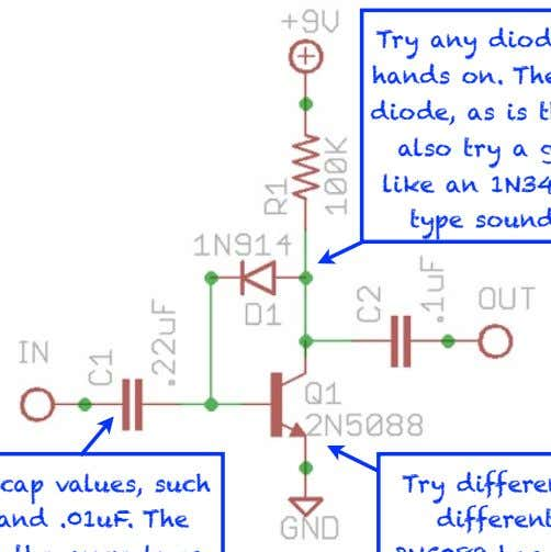 tonefiend DIY CLUB Start modding! Try any diode you can get your hands on. The 1N914