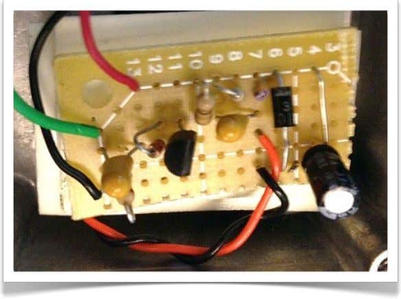 looks like this. With any luck, yours will look nicer. Transfer the circuit to perfboard using