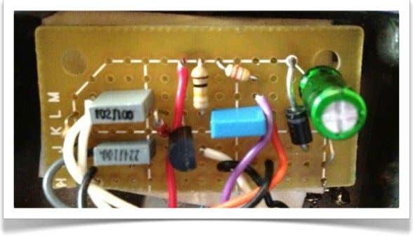 Transfer the Circuit to Perfboard My version of the three-knob layout looks like this. Aim higher.