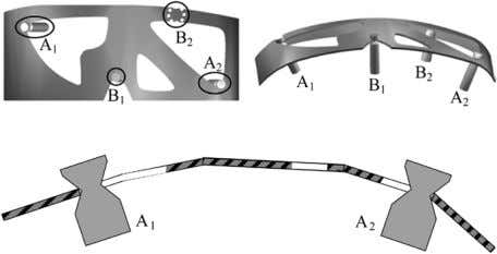 et al. : UNILATERAL FIXTURES FOR SHEET METAL PARTS Fig. 1. Three views of an example