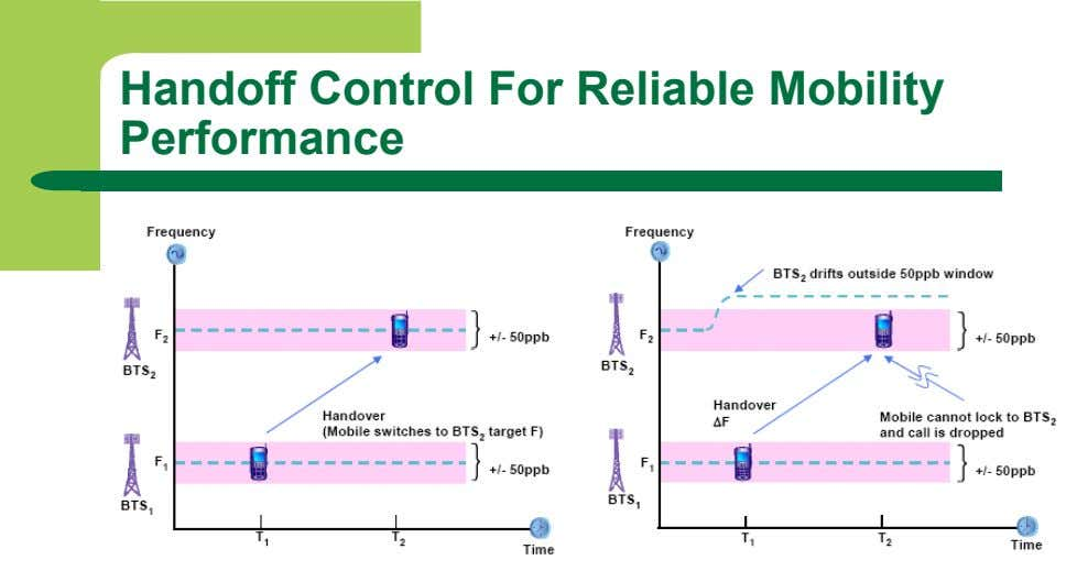 Handoff Control For Reliable Mobility Performance