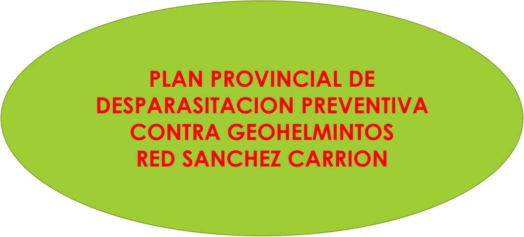 PLAN PROVINCIAL DE DESPARASITACION PREVENTIVA CONTRA GEOHELMINTOS RED SANCHEZ CARRION