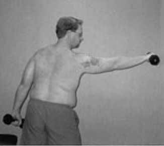 through a full and loaded gleno- humeral range of motion. Figure 10 Dumbbell punches may be