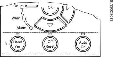 On OK Warn Alarm Hand Auto D On Reset On 130BD062.10
