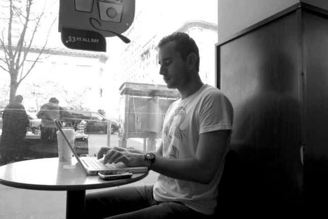 his local Starbucks more than at home. Photo by Jill Colvin Doug Lange has been running