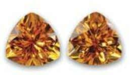 Topaz of a deep yellow almost orange, tinged with gold. Citrine is the alternate November birthstone.