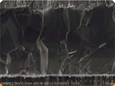 in-cassette cleaning of the 150 mm substrates and the same Micrograph of the CIGS solar cell