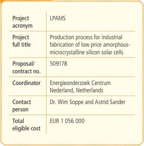 Project LPAMS acronym Project full title Production process for industrial fabrication of low price amorphous-