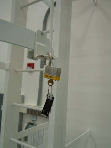 cage ladder access leaving the key in the lock as shown Rev. 04/22/2014 Overhead Crane Safety