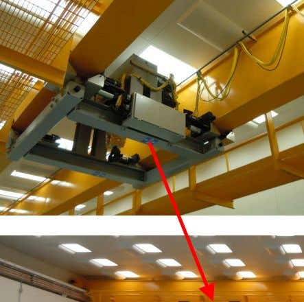 – a Double Girder Overhead Underhung Bridge Crane — Underhung means the trolley rides below the