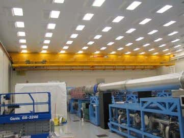 and other specially designed equipment using overhead hoists • Overhead bridge cranes in the OMEGA facilities