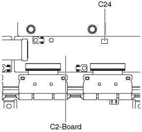 the Control button unit 1. Disconnect the connector (C24). 2. Remove the screws ( × 2