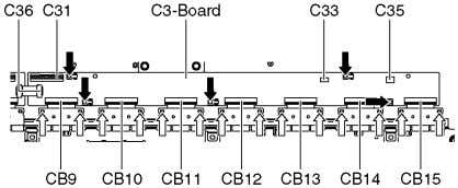 cables (C31 and C36). 6. Disconnect the connectors (C33 and C35). 7. Remove the screws (