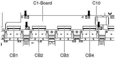 5. Remove the screws ( × 4 ) and remove the C1-Board. 7.17. Remove the C2-Board