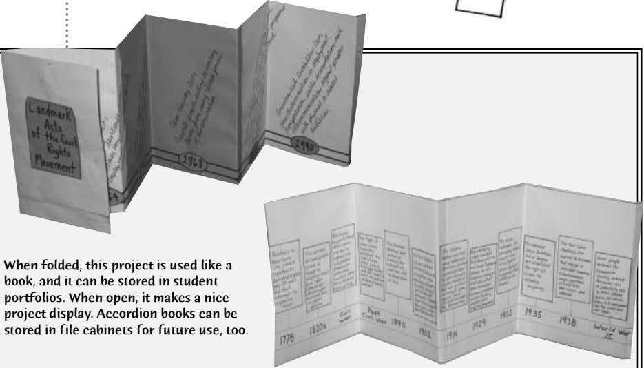 When folded, this project is used like a book, and it can be stored in