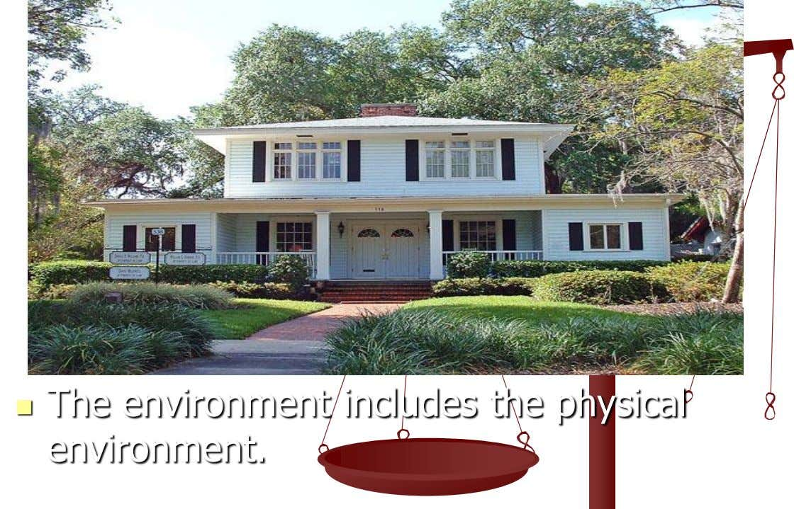  The environment includes the physical environment.