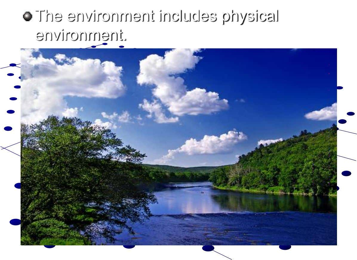 The environment includes physical environment.