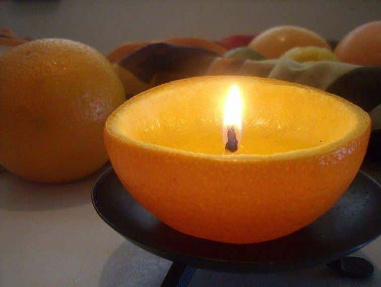 and find a citrus scented yellow candle or use a vanilla colored candle). Pour rock salt