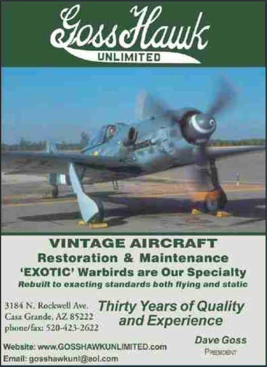 YOUR INDISPENSIBLE RESTORATION & MAINTENANCE PROVIDERS I SSUE 56 C LASSIC W INGS 55