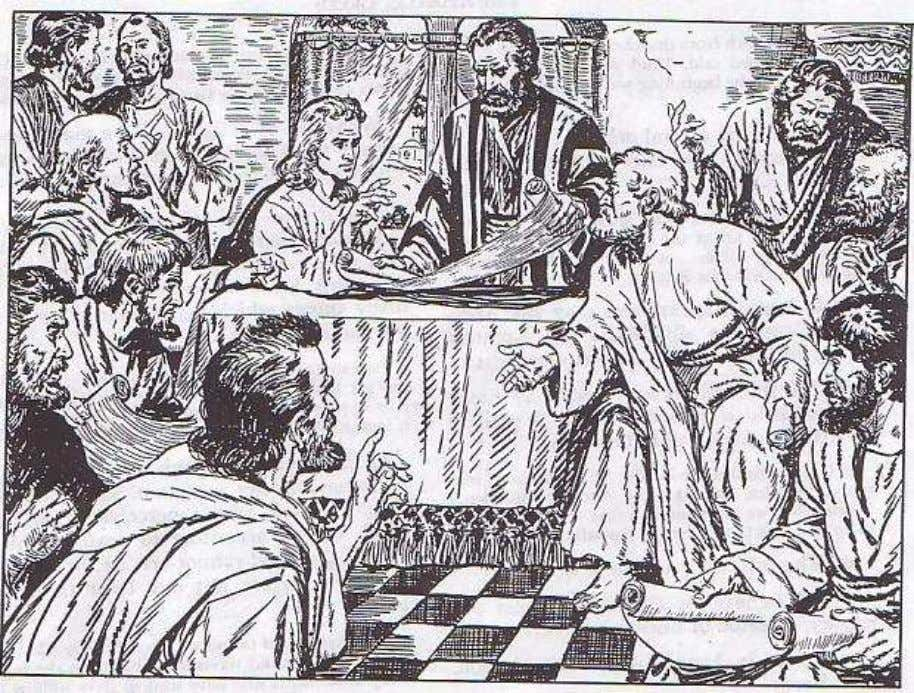 2. The Apostles' Creed The Apostles, before they parted, gathered together in Jerusalem in the first