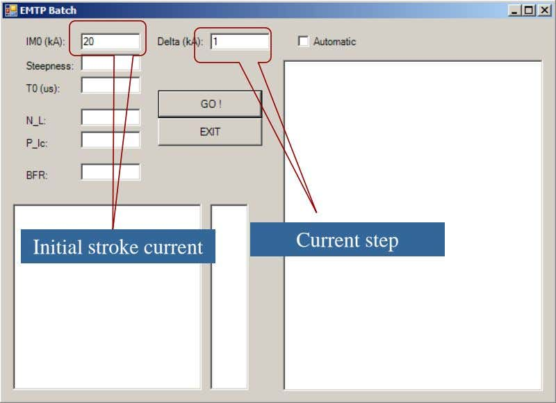Current step Initial stroke current