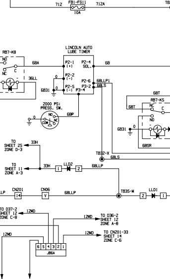 XS4315-1 OCT 06 ELECTRICAL SCHEMATIC AUTO LUBE SYSTEM WITH WARNING 930E-4 A30462 & UP Sheet